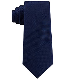 Sean John Men's Classic Pixilated Plaid Silk Tie