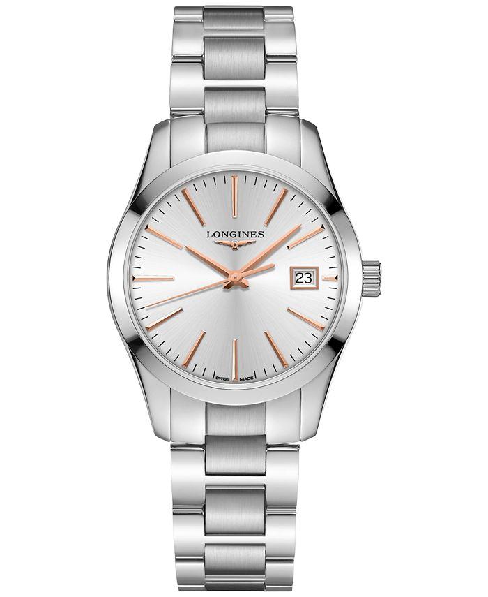 Longines - Women's Swiss Conquest Classic Stainless Steel Bracelet Watch 34mm
