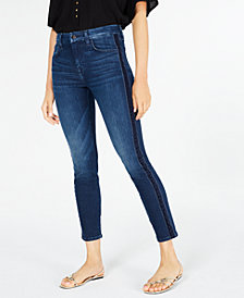Jen7 by 7 For All Mankind Tuxedo Ankle Skinny Jeans