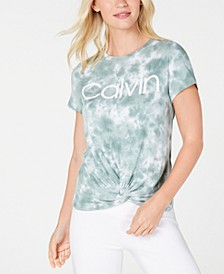 Tie-Dyed Twist-Front T-Shirt