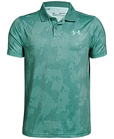 Boys' Performance Printed Golf Polo