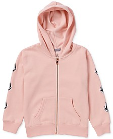 Volcom Toddler & Little Girls Logo-Print Fleece Hoodie