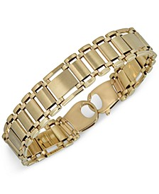 Men's Link Bracelet in 14k Gold