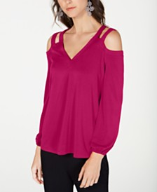 I.N.C. Cutout Cold-Shoulder Top, Created for Macy's