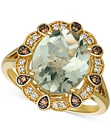 Mint Julep Quartz (3-3/4 ct. t.w.) & Diamond (1/5 ct. t.w.) Ring in 14k Gold