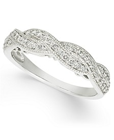 Diamond Braided Band (1/3 ct. t.w.) in 14k White Gold