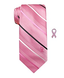 Susan G Komen Men's Simple Textured Stripe Tie