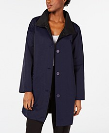 Organic Stand-Collar Reversible Coat, Regular & Petite