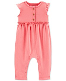 Baby Girls Ruffled Cotton Jumpsuit