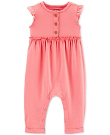 Carter's Baby Girls Ruffled Cotton Jumpsuit