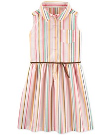 Little & Big Girls Striped Shirtdress