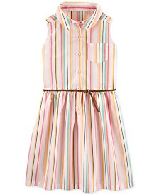 Carter's Little & Big Girls Striped Shirtdress