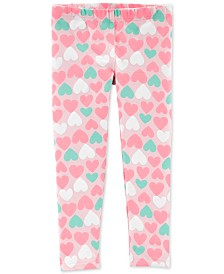 Carter's Baby Girls Heart-Print Leggings