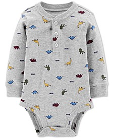 Baby Boys Dinosaur-Print Cotton Bodysuit