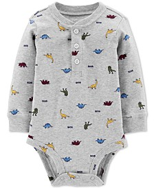 Carter's Baby Boys Dinosaur-Print Cotton Bodysuit