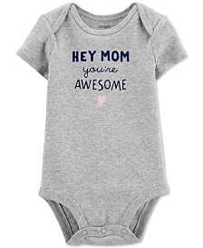 Carter's Baby Girls Mom You're Awesome Cotton Bodysuit