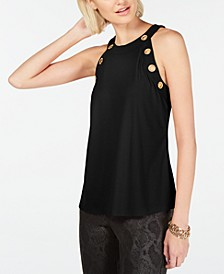 INC Petite Grommet-Trim Top, Created for Macy's