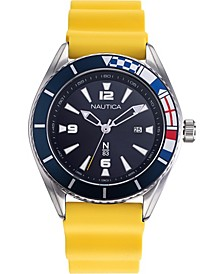 N83 Men's NAPUSS904 Urban Surf Yellow/Black Silicone Strap Watch