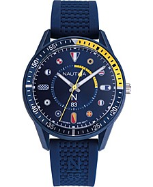 N83 Men's NAPSPS904 Surf Park Blue/Yellow Silicone Strap Watch