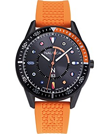 N83 Men's NAPSPS901 Surf Park Orange/Black Silicone Strap Watch