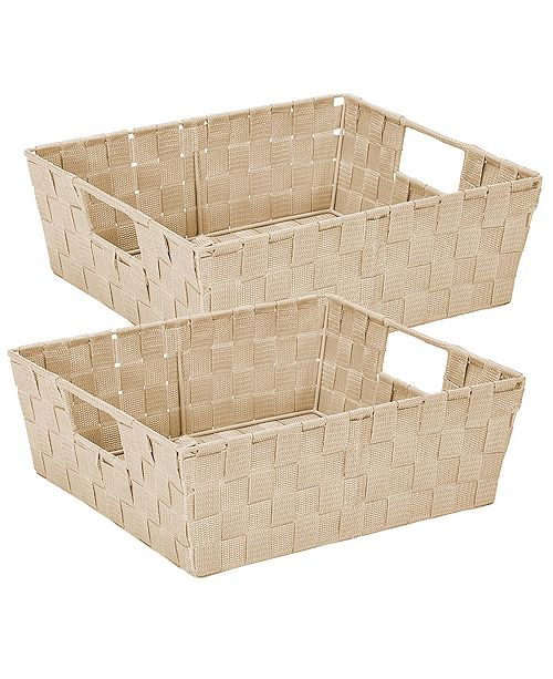 Simplify 2 Pack Storage Shelf Tote