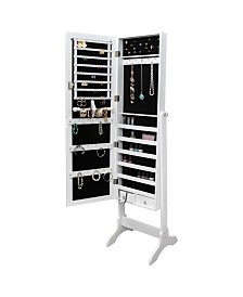 Mirrored Jewelry Armoire, Free Standing, Lockable