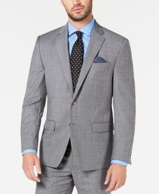 Men's Classic-Fit UltraFlex Stretch Black/White Mini-Houndstooth Suit Jacket