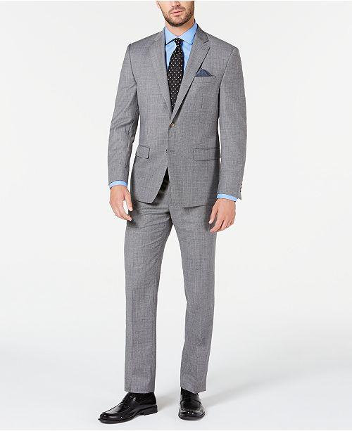 Lauren Ralph Lauren Men's Classic-Fit UltraFlex Stretch Black/White Mini-Houndstooth Suit Separates