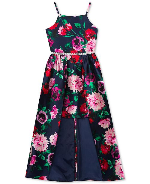 Rare Editions Big Girls Floral-Print Walkthrough Dress