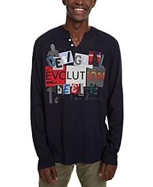 Men's Santé Appliqué Graphic Split-Neck T-Shirt