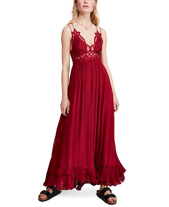 Free People Adella Lace Maxi Dress