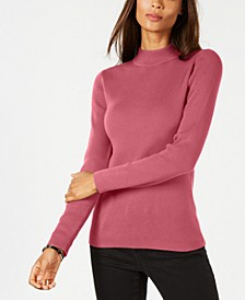 Cotton Ribbed Turtleneck Top, Created for Macy's