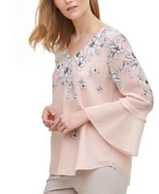 Calvin Klein Ruffled Bell-Sleeve Top