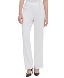 Calvin Klein Wide-Leg Sailor Pants