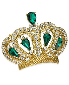Gold-Tone Crystal Crown Pin, Created for Macy's