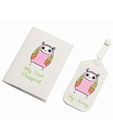 Owl Luggage Tag and Passport Set