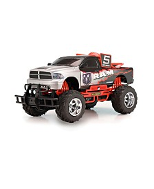 "New Bright 1:10 Scale, 17"" Radio Control Baja Dodge Ram"