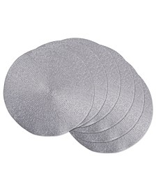 Metallic Round Woven Placemat, Set of 6