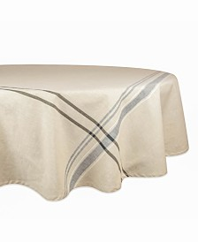 "French Stripe Tablecloth 70"" Round"