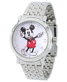 Men's Disney Mickey Mouse Silver Bracelet Watch 44mm