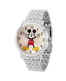 Women's Disney Mickey Mouse Silver Bracelet Watch 38mm