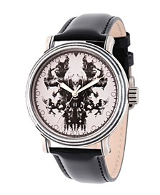 Men's Marvel Avengers Endgame Thanos, Captain America, Hulk, Hawkeye, Captain Marvel,Iron Man,Nebula, Thor Black Strap Watch 44mm