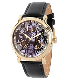 Men's Marvel Avengers Endgame Thanos Black Strap Watch 44mm