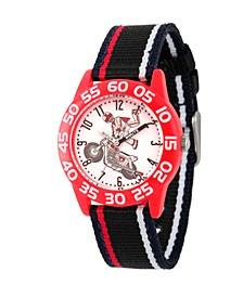 Boy's Disney Toy Story 4 Duke Caboom Black Plastic Time Teacher Strap Watch 32mm