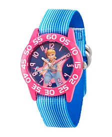 EwatchFactory Girl's Disney Toy Story 4 Bo Peep Blue Plastic Time Teacher Strap Watch 32mm