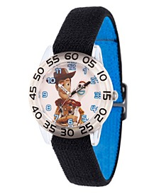 Boy's Disney Toy Story 4 Woody Forky Black Plastic Time Teacher Strap Watch 32mm