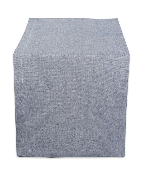 """Design Import Solid Chambray Table Runner 14"""" x 108"""""""