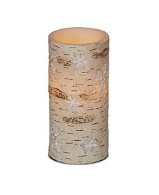 DecoFlair Birch Snowflakes LED Candle