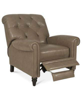 Martha Stewart Collection Leather Recliner Chair Bradyn 36W x 41