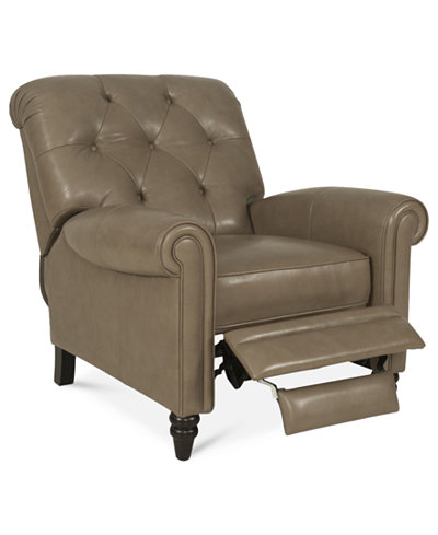 Martha Stewart Collection Leather Recliner Chair Bradyn 36 W x 41 – Leather Recliner Club Chairs